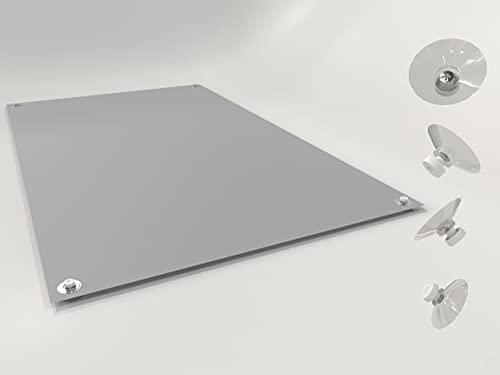 Home-Vision® Dachfensterrollo Verdunkelungsrollo Velux-kompatibel ohne Bohren mit Saugnäpfen Lichtundurchlässig Thermorollo Thermo-Rollo für Dachfensterr (Grau, C04 - 37cm x 73cm)