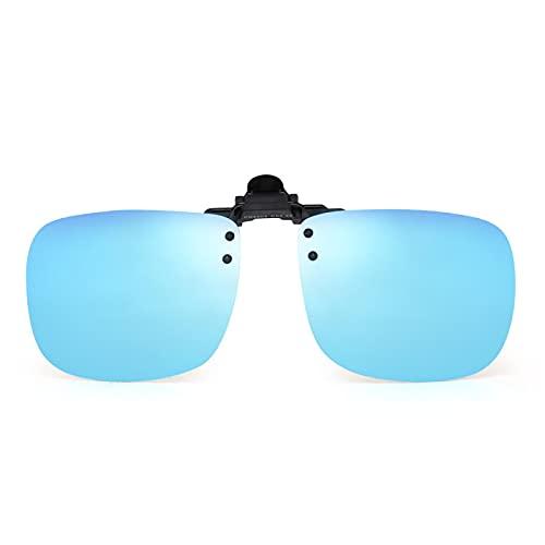 ShZyywrl Gafas De Sol De Moda Unisex Gafas De Sol Polarizadas con Clip para Mujer, Hombre, Sin Marco, con Filtro, Gafas De Sol Uv400 C4Bluerevo