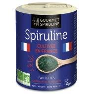 Spiruline Bio Francaise Paillettes - Pot 90g Gourmet spiruline