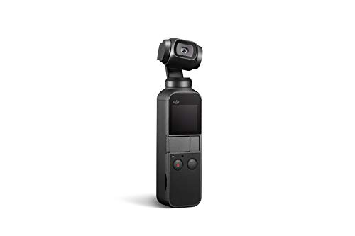 "DJI Osmo Pocket - Handheld 3-Axis Gimbal Stabilizer with integrated Camera 12 MP 1/2.3"" CMOS 4K Video, Attachable to Smartphone, Android, iPhone, Black"