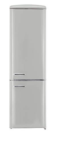 Exquisit RKGC 250/70-16 A++GRAU Retro-Kühl-Gefrierkombination/EEK: A++/4* Gefrierfach/181 Liter Kühlen/63 Liter Gefrieren/ Retro-Handgriff/Grau