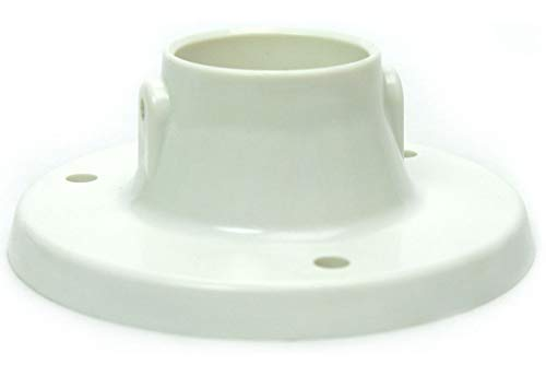 Plastic Above Ground Deck Flanges to Mount Swimming Pool Ladder 2-Pack
