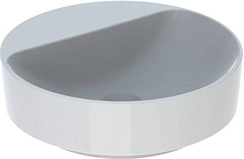 Keramag VariForm Aufsatzwaschtisch rund, 450mm, mit Hahnloch, ohne Überlauf, Farbe: Weiß