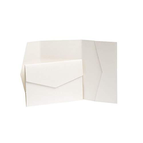 Pocketfold Invites LTD Einladungen, Perlglanz, 185 x 130 mm, 100 Stück