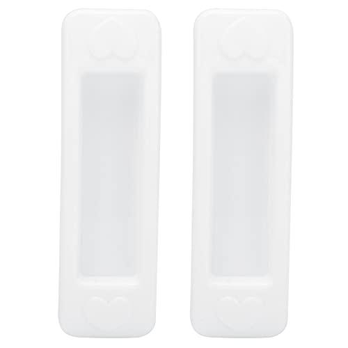 Omabeta Maniglia in Plastica per Porta Scorrevole in Vetro di Plastica Bianca da 2 Pezzi