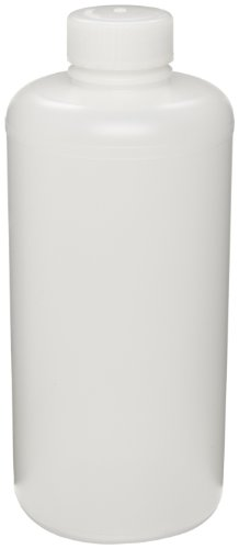 Bel-Art Precisionware Narrow-Mouth 500ml (16oz) High-Density Polyethylene Bottles; Polypropylene Cap, 28mm Closure (Pack of 12) (F10620-0007)