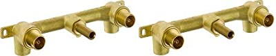 Delta Faucet Wall-Mount Rough-In Valve for Delta 2-Handle Wall-Mount Bathroom Faucets R3500-WL