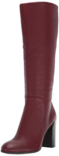 Kenneth Cole New York Women's Justin High Heel Knee Boot, Burgundy, 8.5