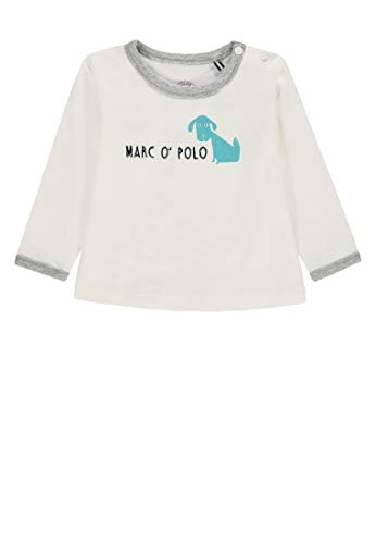 Marc O' Polo Kids T- 1/1 Arm T-Shirt À Manches Longues, Blanc (Snow White 1050), 68 Bébé garçon