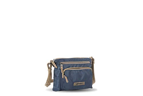 Bolso cruzadero nylon azul grande Liberto (30x20x3cm)