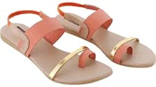 Galaxy Foot Craft Women Sandal Elastic-Peach (SN22)