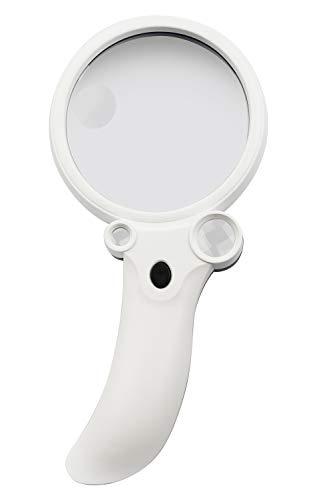 LED照明付き手持ち拡大鏡 KTL-406