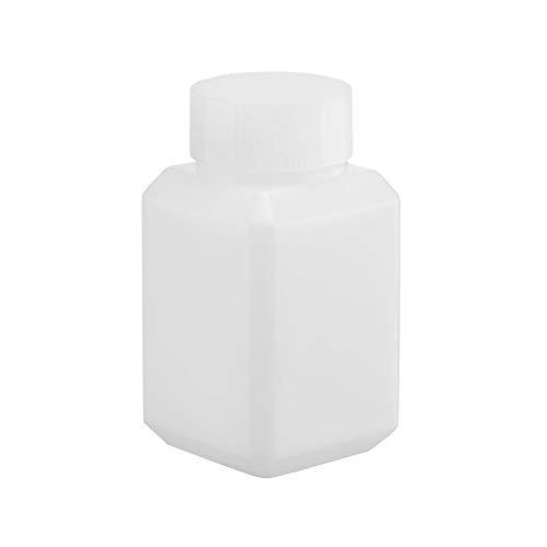 sourcing map Kunststoff-Reagenzflasche, 60 ml, breite Öffnung, Versiegelungsflüssigkeit, feste Aufbewahrungsflaschen, durchscheinend, 5 Stück