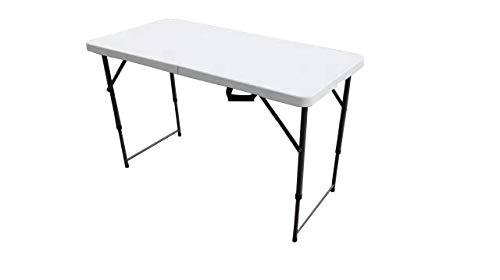 Tenco Mesa Plegable, Blanco, 122cm
