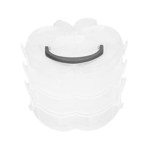 WESE Caja de Almacenamiento Desmontable, contenedor de Almacenamiento de Juguetes liviano con Forma Conveniente para organizar y almacenar artículos pequeños(Blanco)