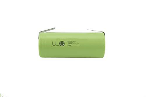 Ersatzakku WG® 2000mAh 1.2V 42x17mm kompatibel mit Braun Oral B elektrische Zahnbürsten Typ 3764 Pro 4000, 5000 5550 6000 7000, Trizone 6000 6500 7000, Black White 6500 7000, DeepSweep 5000 5550