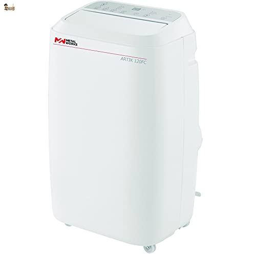 BricoLoco Aire acondicionado portátil silencioso. Pingüino bajo consumo. 4 en 1: refrigerador, ventilador, deshumidificador y calefactor. Mando a distancia. Kit ventana. 3.000 frigorías.