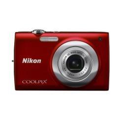 Nikon Coolpix S2500–Digital Kompaktkamera, 12MP (2,7Zoll, 4x optischer Zoom)–Rot