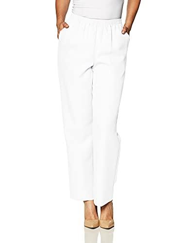 Alfred Dunner Women's Medium Pant,White,14