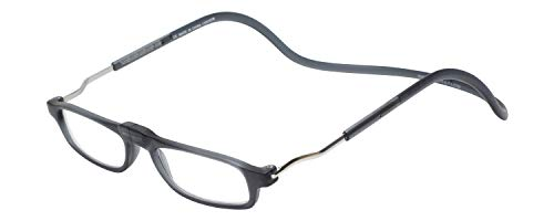 Clic Magnetic XL Reading Glasses in Matte Grey +1.50