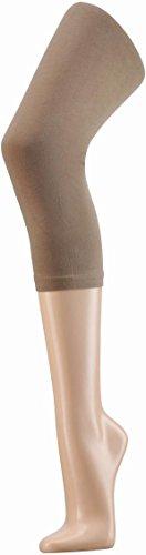 normani Damen Capri Leggings aus Baumwolle - Blickdicht Farbe Taupe Größe XXL