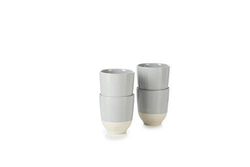 Revol RV648916 Tasse à thé Color Lab, Porcelaine, Gris Stratus, 8 x 8 x 8,8 cm