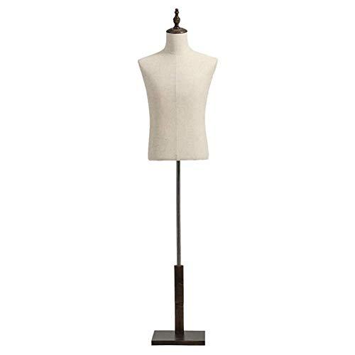 LLSS heren etalagepop, verstelbare grote maat heren oefenpop voor jurken display, kleding naaien, roestvrij staal en hout