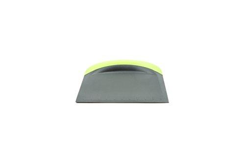 Fox Run 3-In-1 Bowl Scraper/Flat Cutter, 4.25 x 4.75 x 0.25 inches, Green