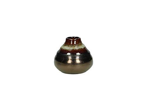 Vaas - keramiek - brons - 9x9x8cm