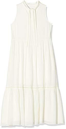 BOSS Damen Cellei Kleid, Weiß (White 100), (Herstellergröße: 32)