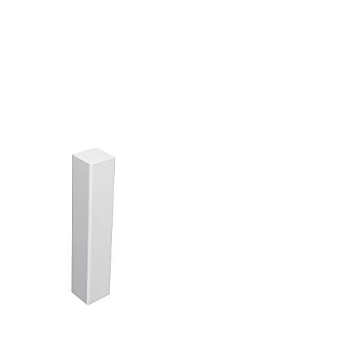 Universal Eckblock Eckturm Eckstab MDF WEISS 105mm (Eckturm ECONOMY (ohne Fase))
