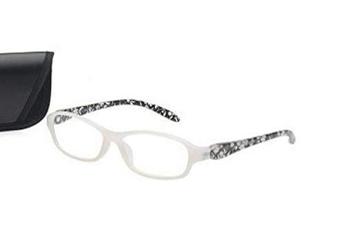 Kindler Moderne leesbril +3,0 voor dames en heren transparante leeshulp etui kant-en-klaar bril