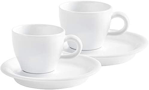 KAHLA - Juego de café (4 Piezas, 2 Tazas y 2 platillos), Color Blanco
