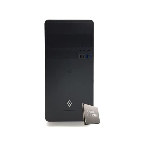 INVENTIVE R300 - Pc fisso AMD Ryzen 5 4650G 4.20Ghz, Ram 16gb 3200 ,Ssd M.2 NVMe 500 Gb,Wifi Pc desktop Computer Windows 10 Pro