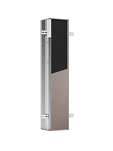Emco Asis Plus 975611001 - Portarotolo a Incasso per Carta igienica, con Cornice in Alluminio, per armadietto da Incasso