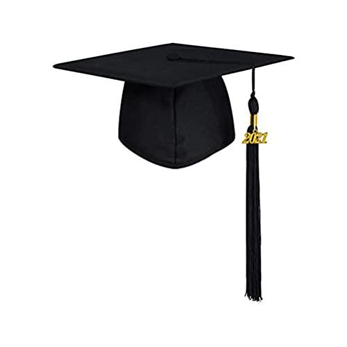 WSTERAO Gorra de graduación Mate Unisex para Adultos con Borla 2021 Ajustable para Adultos de Secundaria y licenciatura