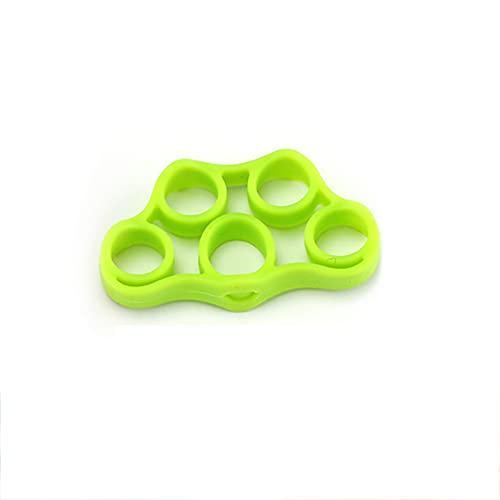 FRIGENN Fortalecedores de Agarre, Fortalecedores de Dedos, Aumenta la Fuerza Mejora la destreza Alivia el Dolor de muñeca Ideal para Escalar Rocas (Fruit Green (3KG/6.6LB))