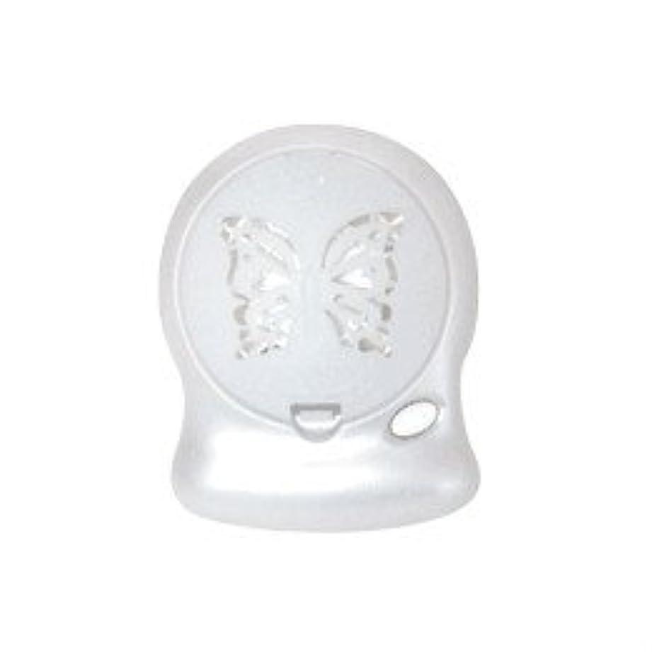 神秘グリップフレームワークアロマブリーズ Nova Jill (蝶柄) ホワイト モバイルファン式芳香器