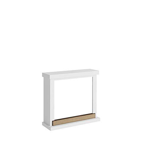Tagu FM469-WH1 Moderno marco de madera Hagen White para chimenea eléctrica empotrada Dimensiones LxAxA75x24,5x67,8 cm