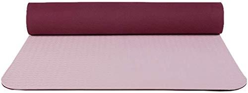 EIIDJFF Esterillas Yoga Antideslizante El Material De TPE Está Hecho De Caucho Natural Rebote Suave Antideslizante En Ambos Lados Resistente Al Desgarro (Color : Light Pink+Deep Red)