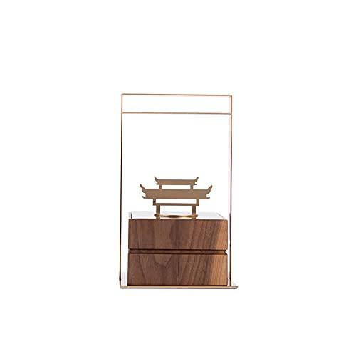 Tianyu cinese ornamenti decorativi metallo costruzione gioielli soggiorno caso un paio di legno valigia modello camera villa Xuanguan morbido quadrato valigia legno (breve)