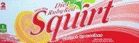 Diet Ruby Red Squirt 2/12 Packs 12 Ounce Cans