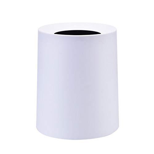 ZXL dubbele mand, voor huis, woonkamer, Chinese stijl, deken, papier, mand, keuken, badkamer, creatief, mand (kleur: grijs, maat: 8 l)