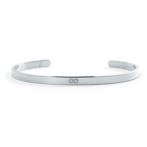 Infinity Armreif – Unendlichkeit Armband aus Edelstahl in Silber – BERGERLIN Symbols