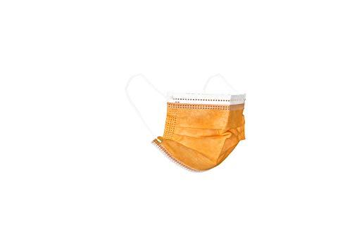 Mascherine chirurgiche da bambino - 100 mascherine da bambino confezionate in pacchetti da 10 (Arancione)