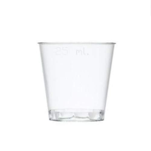 50 Pezzi - Bicchieri da Shot in Plastica Usa e Getta Impilabili 25ml