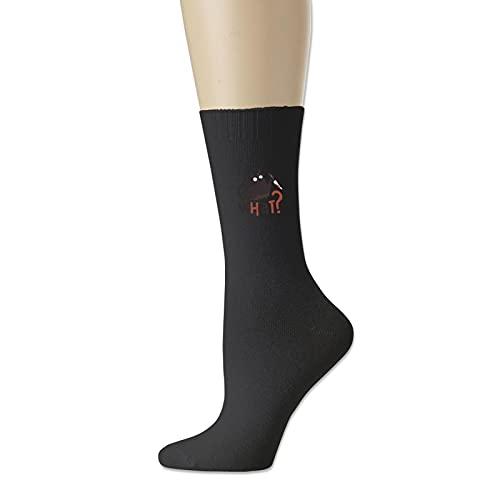 Gato negro y cuchillo qué calcetines de algodón
