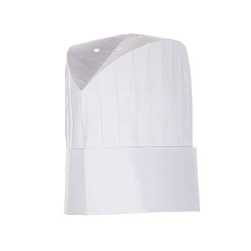 european white chef hat - 1