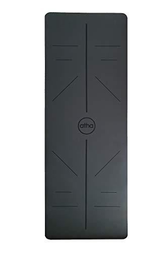 atha Esterilla de Yoga Pro Align – Gris Oscuro (185 x 68 cm/Grosor: 4.2 mm) · Esterilla ecológica y 100% Antideslizante