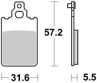 535LC COPPIA PASTIGLIE FRENO POSTERIORI POSTERIORE COMPATIBILE CON Beta Alp 4-stroke 200 2000  2002 TRW